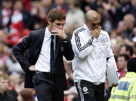 Villas-Boas (trái) chưa đem lại nhiều chuyển biến đáng kể cho Chelsea.