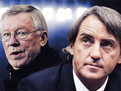 Mancini tôn trọng, nhưng không giấu diếm tham vọng cùng Man City vượt qua MU của HLV Ferguson.