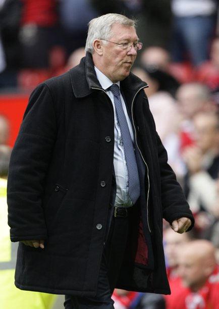 Huấn luyện viên Ferguson đã không thể làm gì trong trận đấu hôm qua.