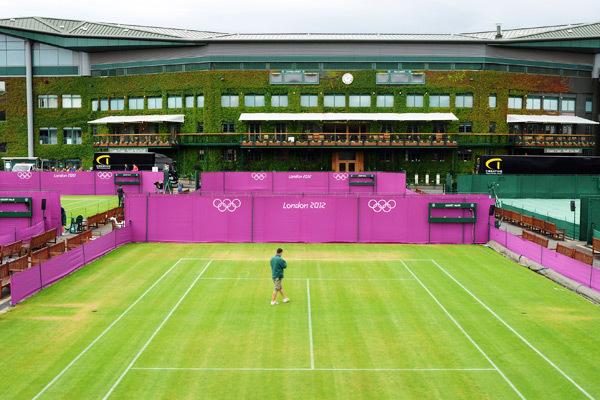 Cụm sân Wimbledon lộng lẫy đón Olympic