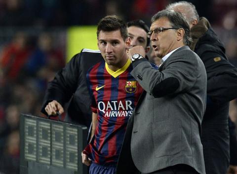 HLV Gerardo Martino và Messi.