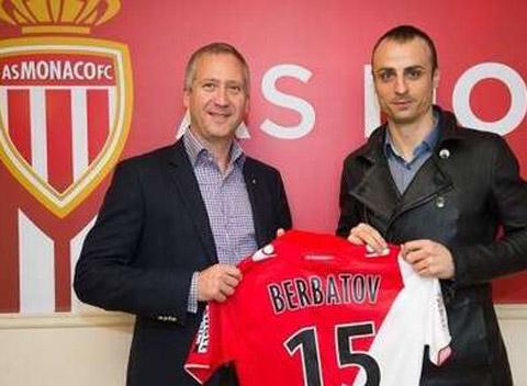 Berbatov ra mắt tại Monaco.