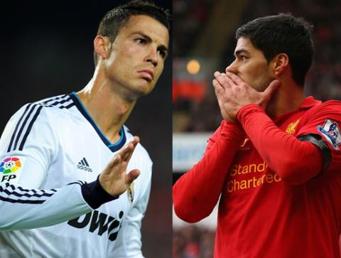 Ronaldo bắt kịp Suarez trên đường đua Giày vàng
