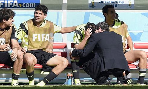 Villa rơi lệ ngày giã từ tuyển Tây Ban Nha