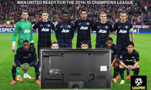 "Ảnh chế Man Utd ""dự"" Champions League qua tivi"