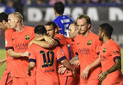 Barca giành chiến thắng năm sao