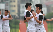 Olympic Việt Nam tập đá phạt đền trước trận gặp UAE