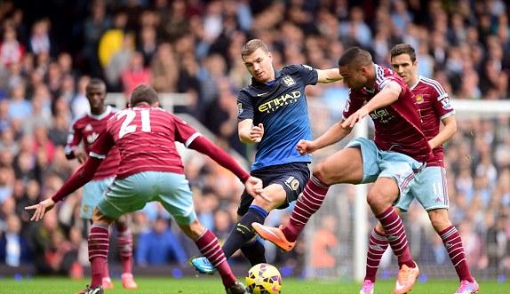 West Ham 2-1 Man City: Đại gia lâm nạn