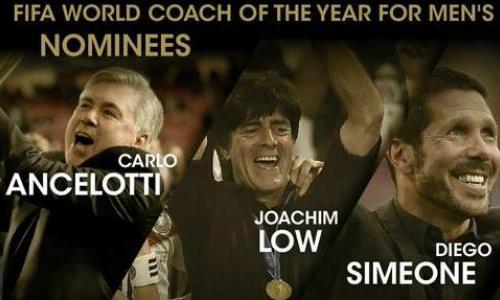 Ancelotti, Simeone, Low tranh giải HLV của năm