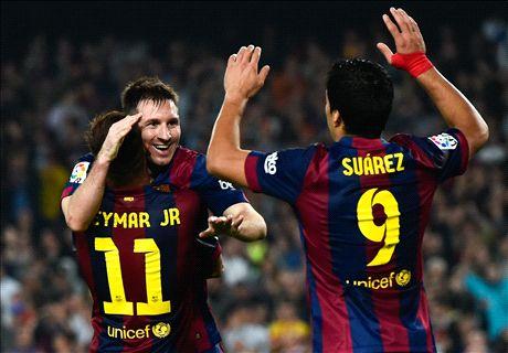 Messi lập hat-trick, Barca đại thắng trận derby
