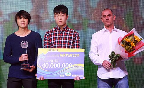 U19 Việt Nam đoạt giải Fair Play 2014