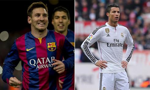 Messi và Ronaldo như ngày và đêm từ đầu năm 2015