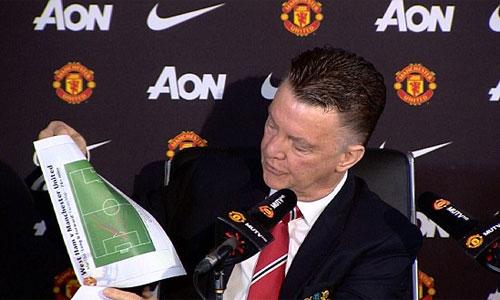 Van Gaal dùng sơ đồ chiến thuật để bảo vệ danh dự của Man Utd