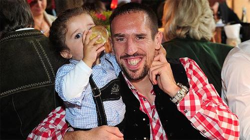 Ribery muốn con trai khoác áo đội tuyển Đức