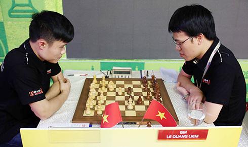 Quang Liêm đối đầu Li Chao tại HDBank - co vua