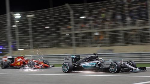 Ferrari đang dần đuổi kịp chiếc W06 của Mercedes. Ảnh: Formula 1.