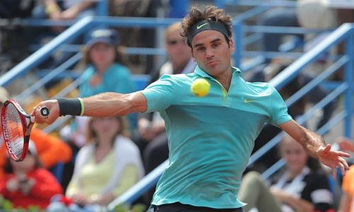 Vất vả, nhưng Federer vẫn có được tấm vé vào bán kết. Ảnh: AP.
