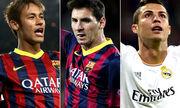 Nhường Neymar đá phạt đền, Messi chưa thể áp sát Ronaldo