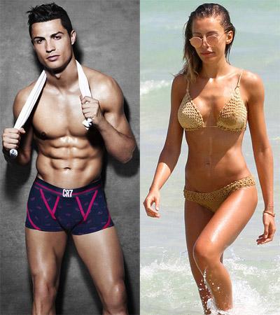 Ronaldo vàAlessia Tedeschi hoàn toàn xứng đôi về vẻ bề ngoài.