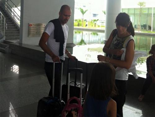 Guardiola đang có mặt tại Hà Nội