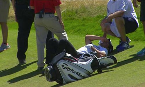 Golf thủ số 10 thế giới ngã quỵ trên sân đấu US Open