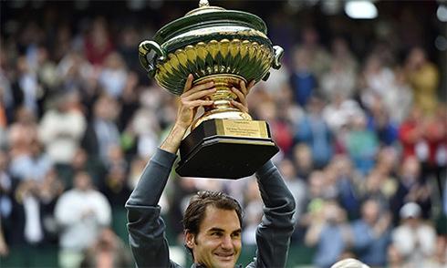 Roger Federer lập kỷ lục tám lần vô địch tại Halle