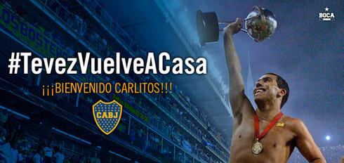Tevez hoàn tất hợp đồng, trở về Boca Juniors