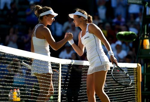 Halep và Bouchard bị loại sốc ngay vòng một Wimbledon