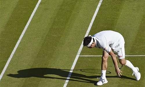 Kei Nishikori bỏ cuộc giữa chừng ở Wimbledon