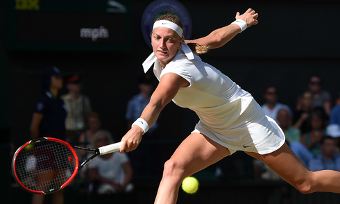 Đương kim vô địch Wimbledon Kvitova bị loại sốc