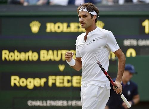 Federer lần thứ 13 vào tứ kết Wimbledon