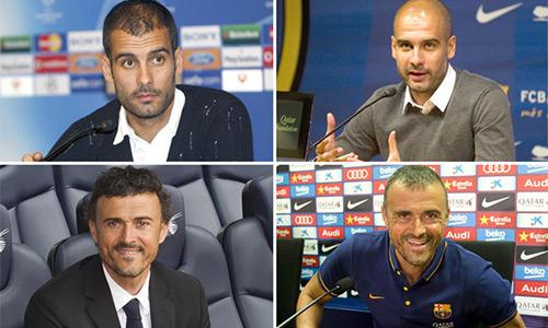 Luis Enrique ngày càng ít tóc giống Guardiola
