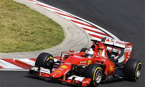 Vettel lên ngôi, Ferrari nhuộm đỏ đường đua Hungaroring