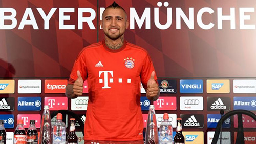 Vidal mơ vô địch Champions League cùng Bayern