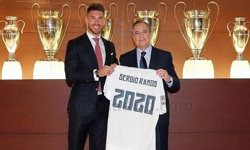 Ramos ký hợp đồng ở lại Real đến năm 2020