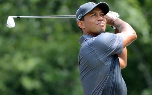 Tiger Woods chia sẻ vị trí dẫn đầu Wyndham Championship