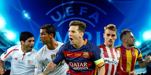 Tây Ban Nha lập kỷ lục có 5 đội dự Champions League