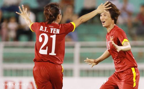 Hạ Jordan, tuyển nữ Việt Nam vươn lên thứ hai ở vòng loại châu Á