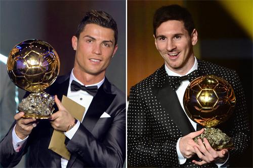Ronaldo (trái) và Messi là hai cầu thủ thành công nhất trong thế hệ của họ-Champions League