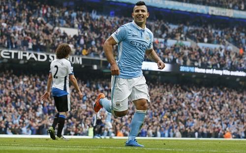 Aguero ghi năm bàn, Man City lấy lại ngôi đầu