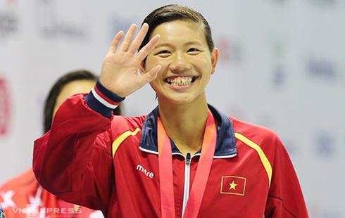 Ánh Viên giành thêm hai HC vàng ở giải châu Á