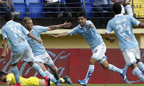 """Celta Vigo vui mừng khi đánh đắm """"Tàu ngầm vàng"""" Villarreal hôm qua 18/10."""