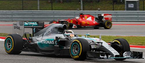 Hamilton về nhất ở GP Mỹ, lần thứ ba vô địch F1