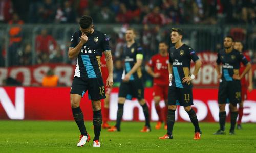 Bayern dồn Arsenal vào cửa tử ở Champions League