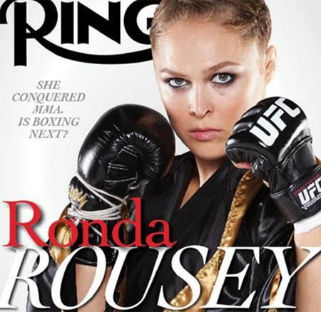 Ronda Rousey trên trang bìa tạp chí The Ring. Ảnh: TR.