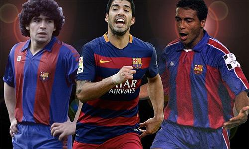 Suarez đứng trước cơ hội vượt qua Maradona và Romario