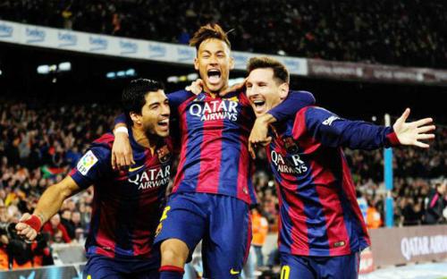 Bộ ba Messi - Neymar - Suarez ghi bàn nhiều hơn mọi đội bóng châu Âu