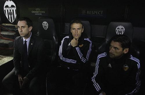 Valencia bị loại, Neville có thể đối đầu Man Utd ở Europa League