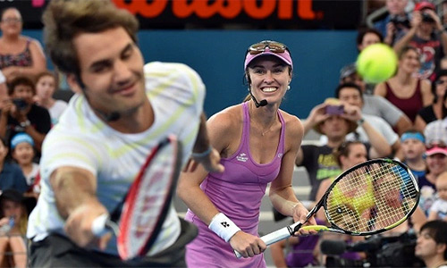 Federer đánh đôi cùng Hingis tại Olympic 2016