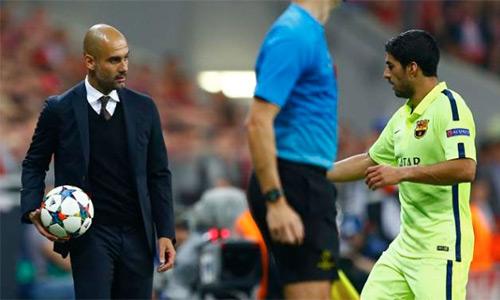 Guardiola yêu cầu CLB mới chiêu mộ Suarez